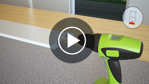 Montagevideo proLINE 2.0 Insektenschutz Doppelschiebetür