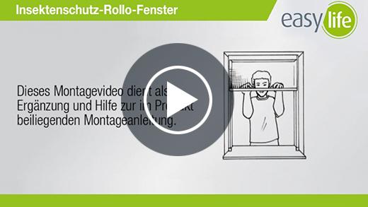 Montagevideo Insektenschutz- Rollo- Fenster
