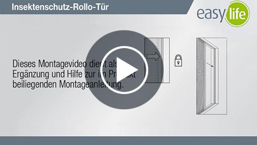 Montagevideo Insektenschutz- Rollo- Tür