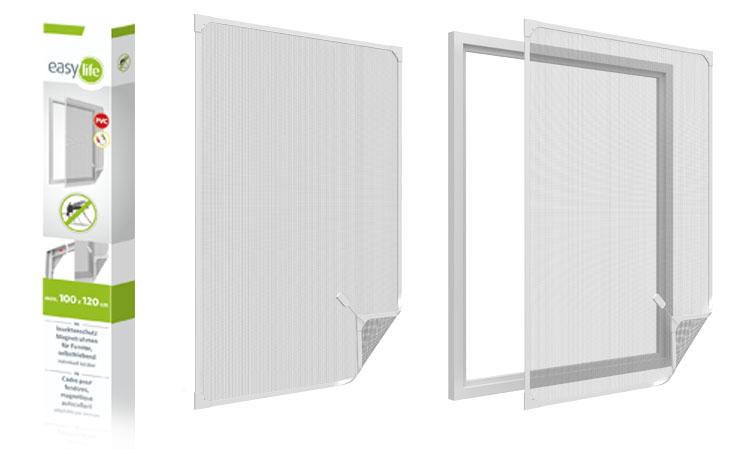 whiteLINE PVC-Insektenschutz-Magnetrahmen für Fenster